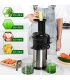 Sagnart Slow Juicer for Vegetables & Fruits with Reversal Function, Masticating Juicer with Juice Jug & Brush
